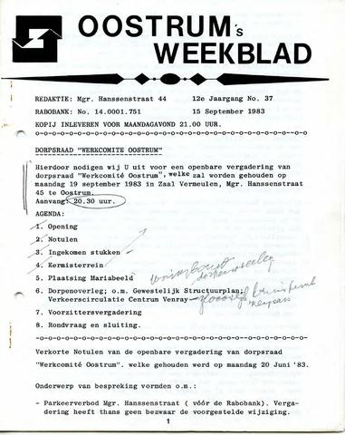 Oostrum's Weekblad 1983-09-15