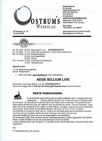 Oostrum's Weekblad 2005-03-10