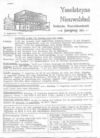 Ysselsteyns Nieuwsblad 1975-08-08