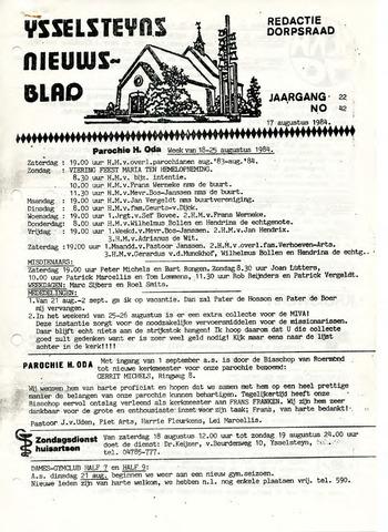 Ysselsteyns Nieuwsblad 1984-08-17