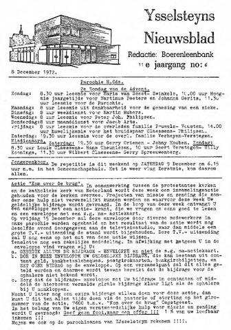 Ysselsteyns Nieuwsblad 1972-12-08