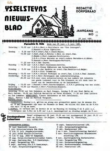 Ysselsteyns Nieuwsblad 1985-06-28