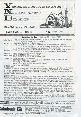 Ysselsteyns Nieuwsblad 1987-04-10