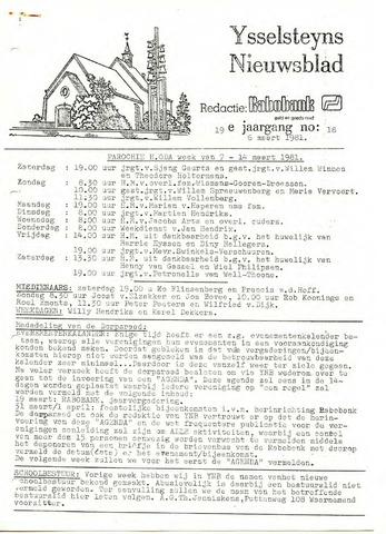 Ysselsteyns Nieuwsblad 1981-03-06