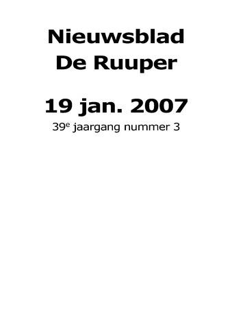 Dorpsblad Leunen-Veulen-Heide 2007-01-19