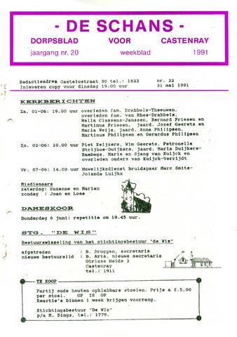 Castenrays dorpsblad De Schans 1991-05-31