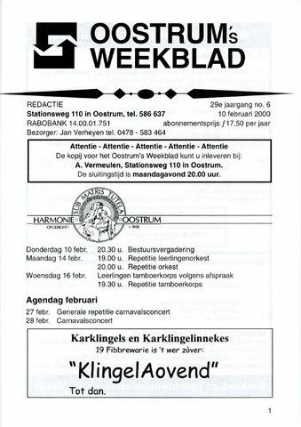 Oostrum's Weekblad 2000-02-10
