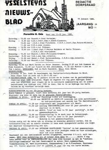Ysselsteyns Nieuwsblad 1986-01-10