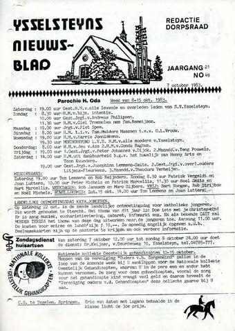 Ysselsteyns Nieuwsblad 1983-10-07