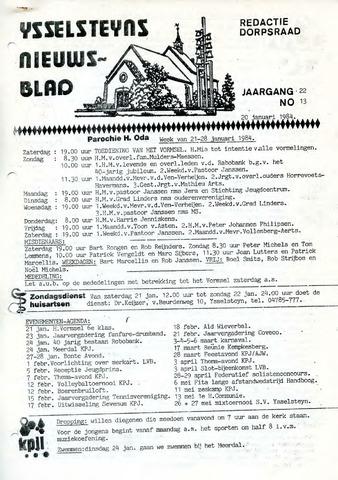 Ysselsteyns Nieuwsblad 1984-01-20