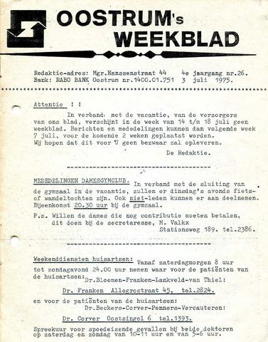 Oostrum's Weekblad 1975-07-03