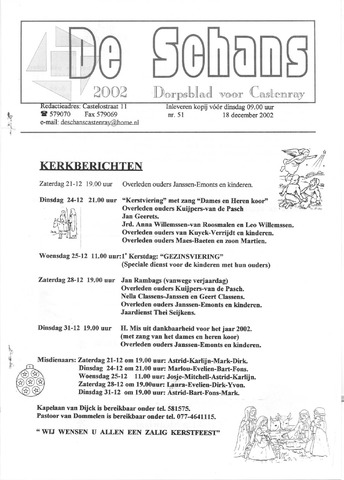 Castenrays dorpsblad De Schans 2002-12-18
