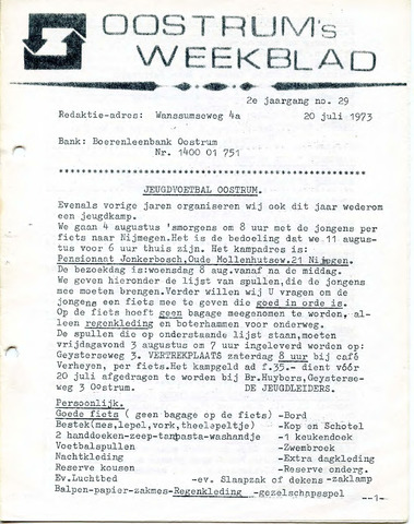 Oostrum's Weekblad 1973-07-20