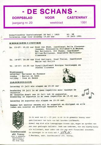 Castenrays dorpsblad De Schans 1991-07-12