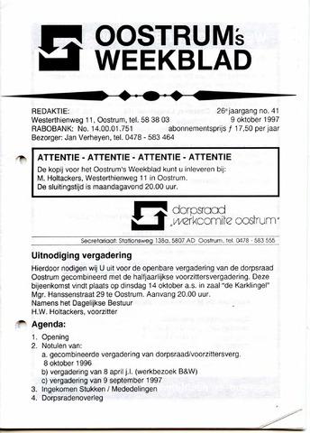 Oostrum's Weekblad 1997-10-09