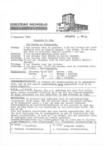 Ysselsteyns Nieuwsblad 1967-08-03