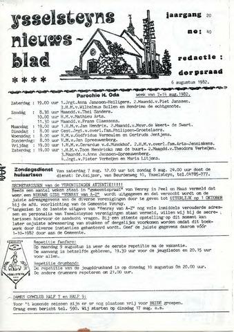 Ysselsteyns Nieuwsblad 1982-08-06