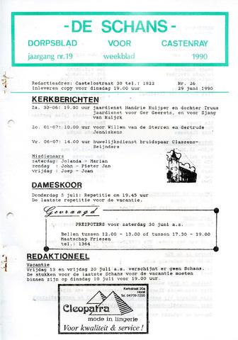 Castenrays dorpsblad De Schans 1990-06-29