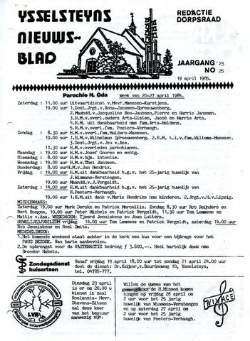 Ysselsteyns Nieuwsblad 1985-04-19