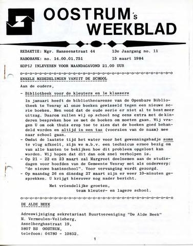 Oostrum's Weekblad 1984-03-15