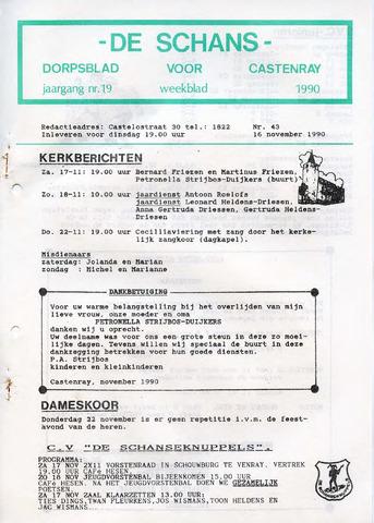 Castenrays dorpsblad De Schans 1990-11-16