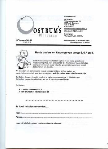 Oostrum's Weekblad 2010-07-15