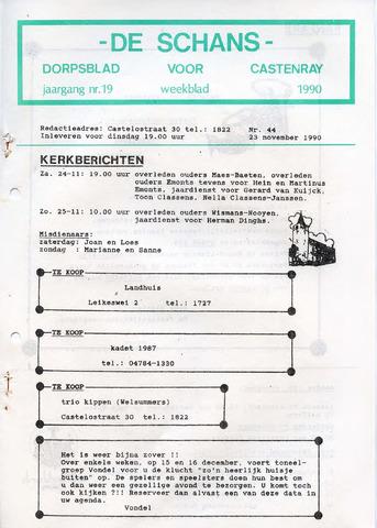 Castenrays dorpsblad De Schans 1990-11-23