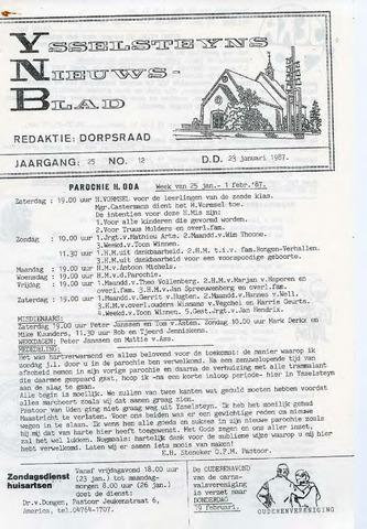Ysselsteyns Nieuwsblad 1987-01-23