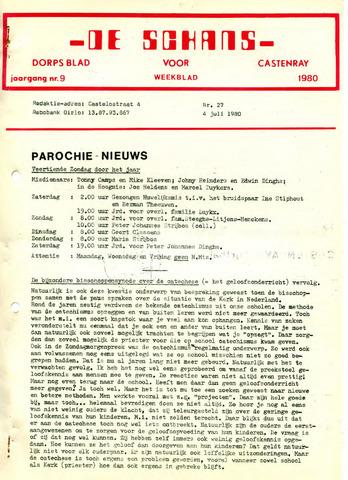 Castenrays dorpsblad De Schans 1980-07-04