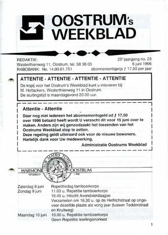 Oostrum's Weekblad 1996-06-06