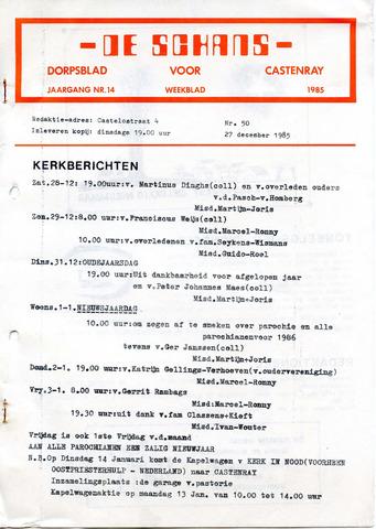 Castenrays dorpsblad De Schans 1985-12-27