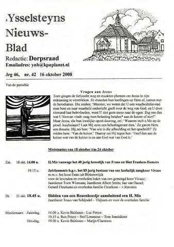 Ysselsteyns Nieuwsblad 2008-10-16
