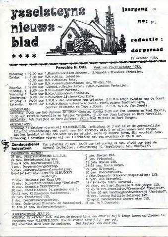 Ysselsteyns Nieuwsblad 1982-10-22