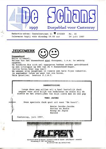 Castenrays dorpsblad De Schans 1997-07-24