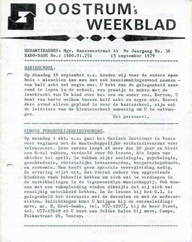 Oostrum's Weekblad 1979-09-13