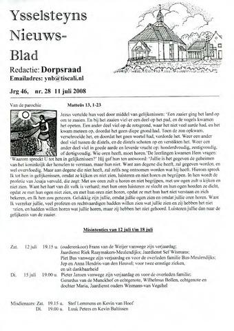 Ysselsteyns Nieuwsblad 2008-07-11