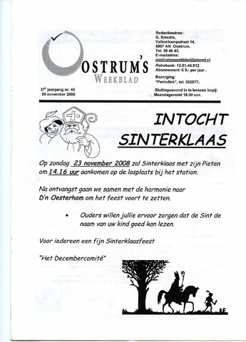 Oostrum's Weekblad 2008-11-20