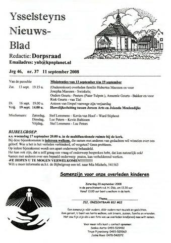 Ysselsteyns Nieuwsblad 2008-09-11