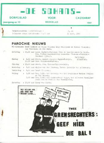 Castenrays dorpsblad De Schans 1981-09-11