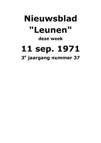 Dorpsblad Leunen-Veulen-Heide 1971-09-11