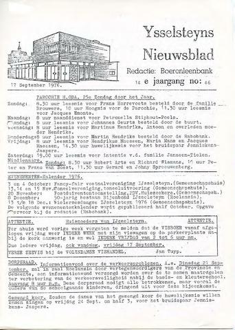 Ysselsteyns Nieuwsblad 1976-09-17