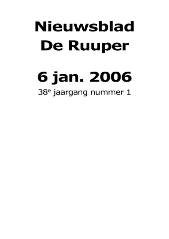Dorpsblad Leunen-Veulen-Heide 2006-01-06