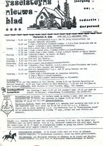 Ysselsteyns Nieuwsblad 1982-09-03