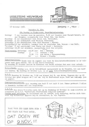 Ysselsteyns Nieuwsblad 1968-10-18