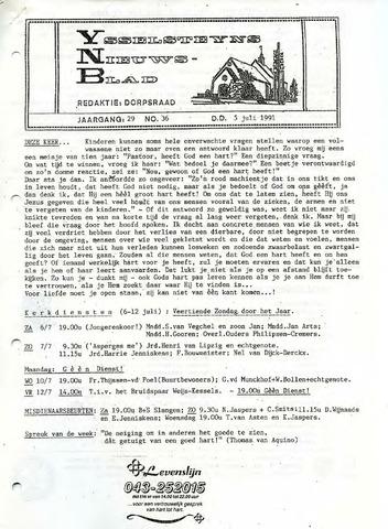 Ysselsteyns Nieuwsblad 1991-07-05