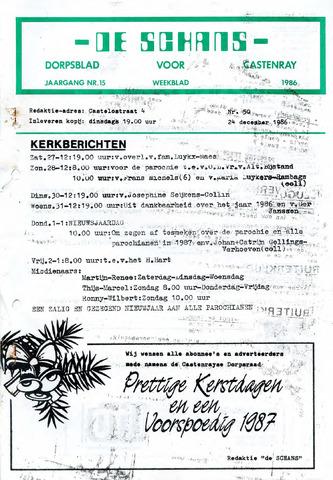 Castenrays dorpsblad De Schans 1986-12-24