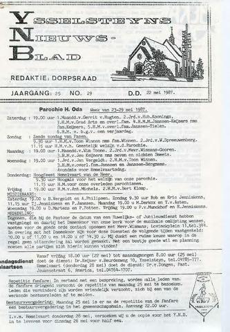 Ysselsteyns Nieuwsblad 1987-05-22