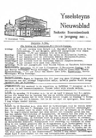Ysselsteyns Nieuwsblad 1972-11-10