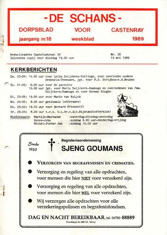 Castenrays dorpsblad De Schans 1989-05-19