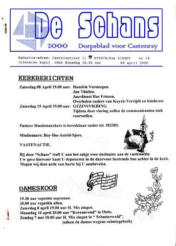Castenrays dorpsblad De Schans 2000-04-06